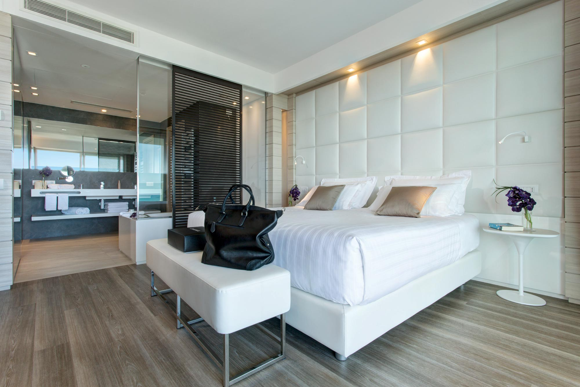 Bed of the Suite Prestige in Almar Jesolo Hotel