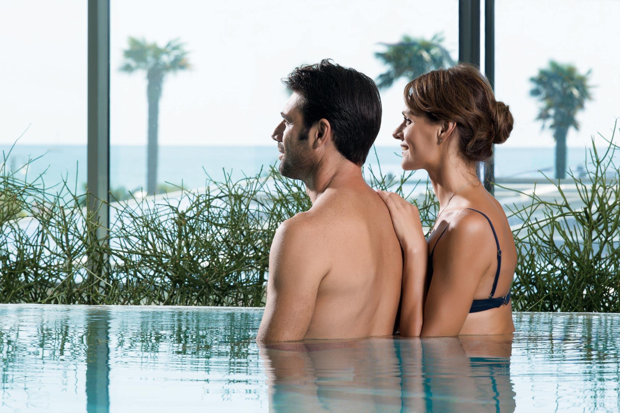 Couple wellness program in the SPA of the Almar Jesolo 5 star resort