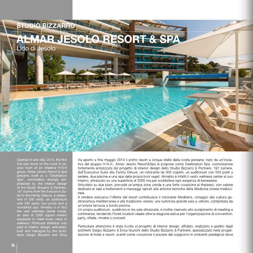 """Articolo su Almar Jesolo apparso sulla rivista """"100 Hotel Italiani"""""""