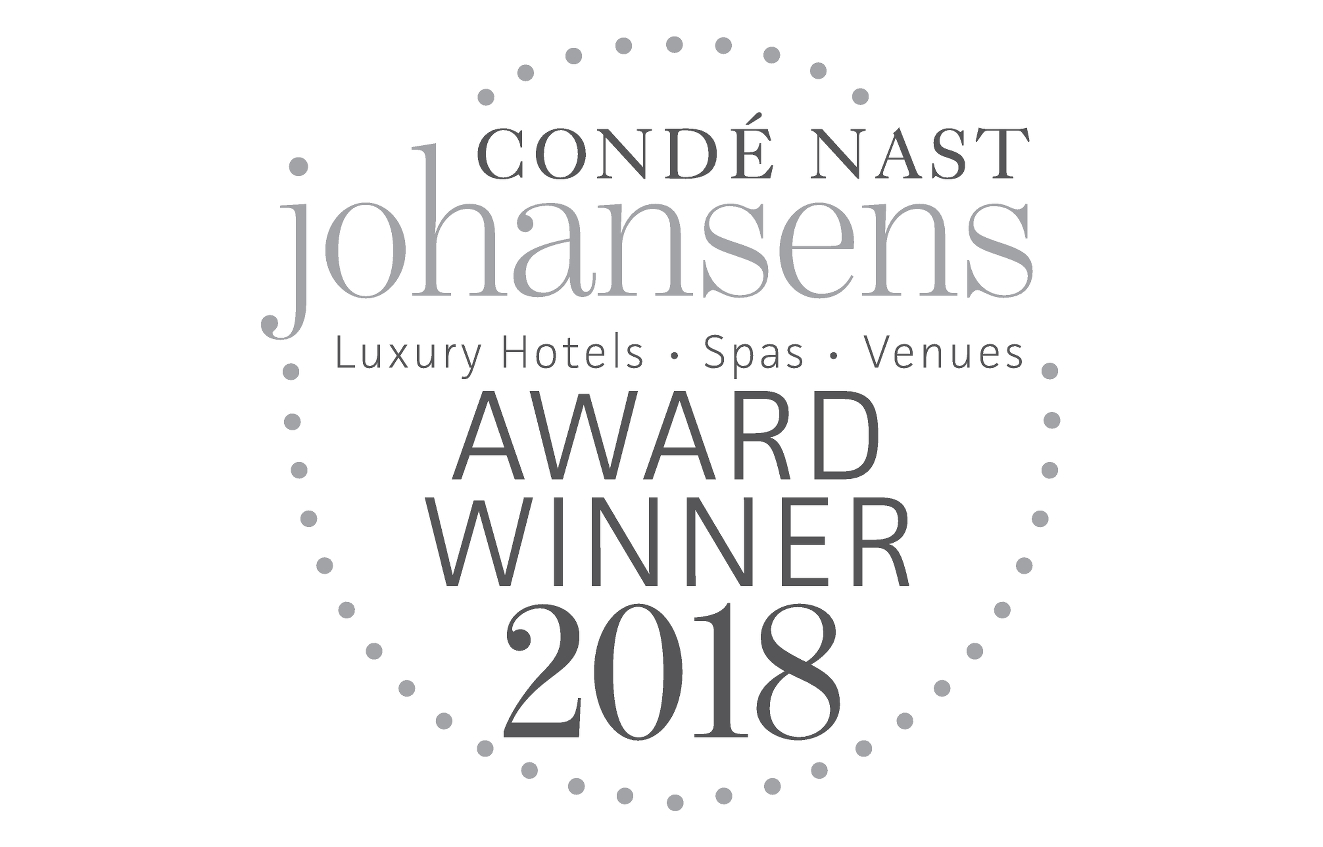 Almablu Spa winner at the Condé Nast Johansens Awards for Excellence 2018
